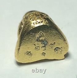Phra Pidta PumPui LP Koon BE. 2556 Thai Talisman Amulet Buddha Gold Case K354