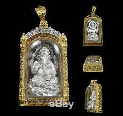 Phra Pikanet ganesha Wat Saman Rattanaram Thai Buddha Amulet Protect Genuine