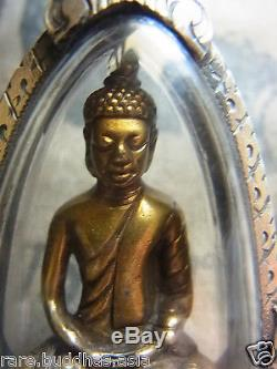 Phra Pilee Pinat Bucha, Wat Bowanniwet Buddha, beautiful! Year 2495 Thai Amulet
