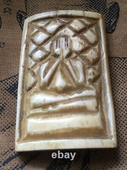 Phra Pitta carving L P Derm, Wat Nong Poh, Nakon Sawan, Thai Buddha Amulet
