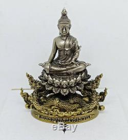 Phra Puttha Baramee Mini Statue Bronze LP Nen Kaew Thai Buddha Amulet luck Bucha