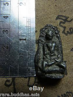 Phra Rod, Kru Wat Mahawan, Lamphun, Phim Yai, Thai Buddha Amulet, silver Case