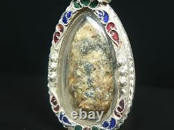 Phra Rod Lamphun Kru Wat Mahawan, Phim 2 Face, Thai Buddha Amulet, silver Case