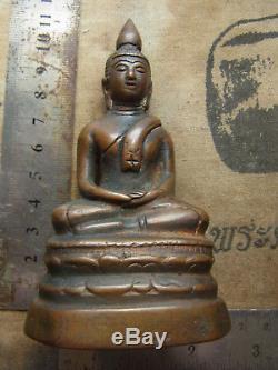 Phra Roong Chiang San Bucha 2-300 yr, sing sam (3) Buddha Statue Thai Amulet