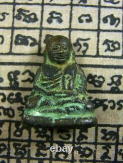 Phra Rublor LP NGERN Wat Bangkl Model Peountak Thai Amulet Buddha Power Lucky