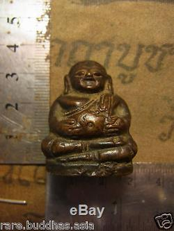 Phra Sangkachai Chiang San around 2-300 year beautiful Silver case Thai Buddha