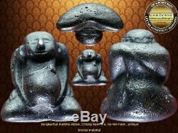 Phra Sangkatcai Chaingsaen Era Buddha Bronze Small Stautue Very Rare Thai Amulet