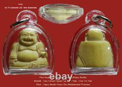 Phra Sangkatjai Happy Lucky Buddha Antigue Hand Craft So Beautiful Thai Amulet