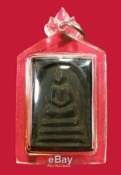 Phra Sd Paya-yiew-dam Kruba Boonchum 2557 Ebony Buddha Thai Amulet