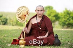 Phra Sd Paya-yiew-dam Kruba Boonchum 2557 Ebony Very Rare Buddha Thai Amulet