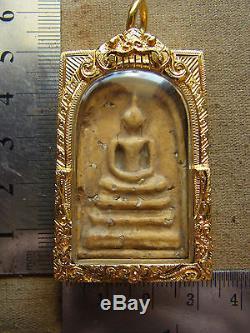 Phra Somdej Arjarn Toh Kru Wat Phra Kaew Bangkok Buddha real Thai gold case