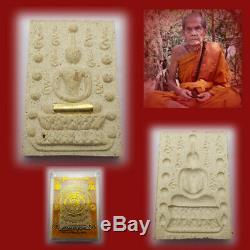 Phra Somdej Lp Moon Wat Banjan Trakrut Yant Thai Buddha Amulet Lucky Rich Rare