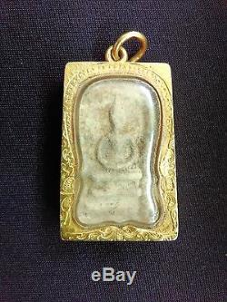 Phra Somdej Lp. Toh Wat Rakang Buddha Old Thai Buddha Amulet Powerful (gold Case)