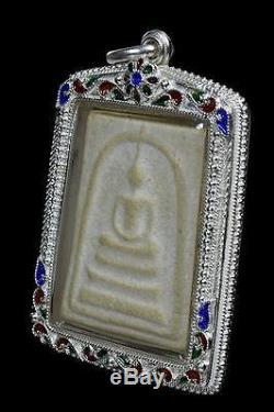 Phra Somdej Lp Toh Wat Rakang Buddha Thai Original Amulet Real Silver case