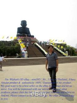 Phra Somdej Rainbow LP Pae Lang Yant Golden Takrut Wat Thai Amulet Buddha Rare