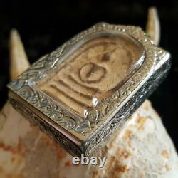Phra Somdej Red Stamp Jaokhun Nor Sacred Buddha Wat Thepsirin Thai Amulet#8115
