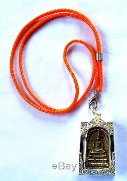 Phra Somdej Toh Bangkhunprom Buddha Phim Sendai Silver Case Thai Amulet