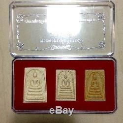Phra Somdej Toh Hairs Relics Wat Rakang Thai Buddha Old Amulet Very Rare thai 3