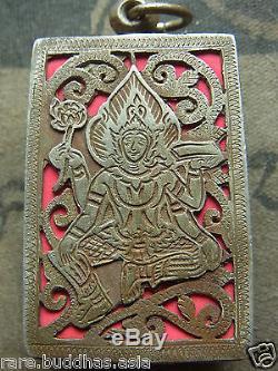 Phra Somdej, Wat Ket Chaiyo, Angthong, 5 based mold 160yr Thai Buddha amulet