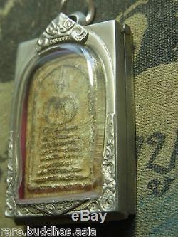 Phra Somdej, Wat Ket Chaiyo, Angthong, 7 based mold year 2404Thai Buddha amulet