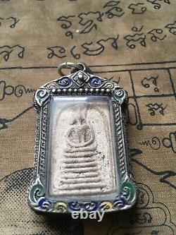 Phra Somdej Wat Ket Chaiyo Angthong 8based mold, 160yr Thai Buddha amulet