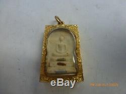 Phra Somdej Wat Rakang Pendant 22k Gold Thai Amulet Buddha wealth Fortune
