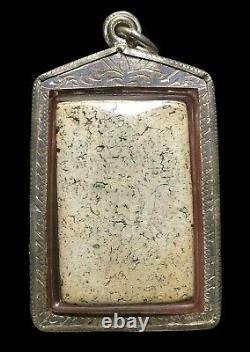Phra Somdej Wat Rakhang Phim Yai, over 160 yr old Silver case Thai Buddha Amulet