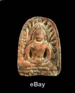 Phra Sum Kor Kru Kamphaeng Phet Thai Ancient Amulet Buddha Good Holy For Lucky