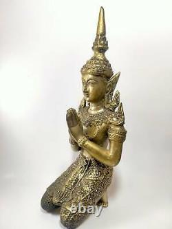 Phra THAI buddha Male angel JUMBO old Amulet temple buddhist talisman RARE A+