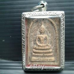 Phra somdaj Tor -Rare wat Rakang thai Amulet Buddha, the holy material old# A