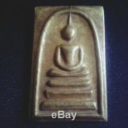 Phra somdaj wat Rakang thai Amulet Buddha, the holy material old# 1