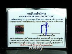 PhraKring Klong akian WatPradoosongdham Top Invulnerable Thai Buddha. Certificate