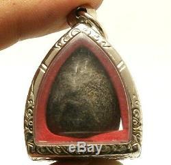 Pidta Close Eyes Buddha Lp Boon Thai Amulet Super Strong Life Protection Pendant