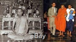 Pidta Closed Eyes LP TOH Wat BraDooChimPree Thai Buddha Amulet RARE Be. 2515