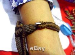 Pong Kham (Quartz) Bracelet Thai Buddha Amulet Powerful Lucky Life Protec RARE