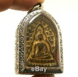 Powerful Lp Boon Buddha In Enlighten Shield Magic Jindamanee Thai Amulet Pendant