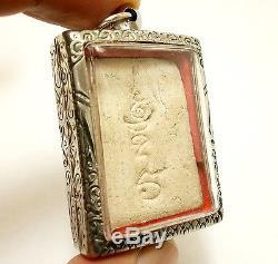Pra Somdej Ride Bird Back Yant Sarika Lp Puek Thai Buddha Miracle Amulet Pendant