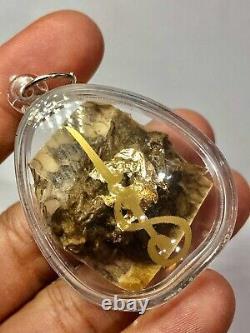 Python Snake Fang Skin LP Goy Magic Talisman Protect Thai Buddha Amulet K1154