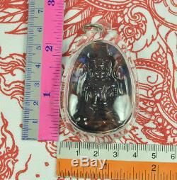 RAINBOW Phra Yod Khun Pon 7 colors LEKLAI Kaew Crystal Thai war Buddha AMULET