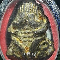 RARE Antique Closing Eyes Buddha Phra Pidta Pim Yai LP Eiam Wat Nang Thai amulet