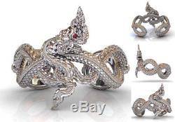 RARE! Beautiful NAKA LP SresudTho genuine Thai Buddha Amulet Bracelet 1 of 99