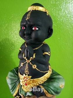 RARE Kuman Thong MAHAVAT 1 Thai Buddha thai amulet Arjan Manit statue soul metal