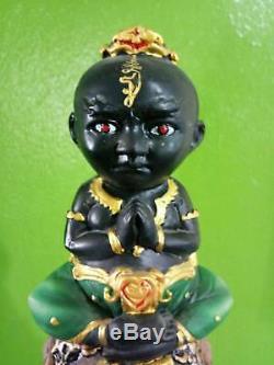 RARE Kuman Thong MAHAVAT 2 Thai Buddha thai amulet Arjan Manit statue soul metal