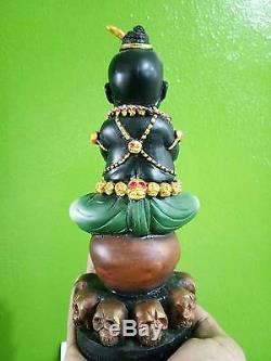 RARE Kuman Thong MAHAVAT Thai Buddha thai amulet Arjan Manit statue soul metal
