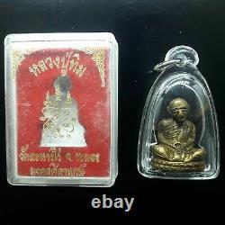 RARE LP TIM 1st-Gen WAT LAHANRAI OLD THAI BUDDHA AMULET WATERPROOF-CASE THAILAND