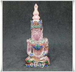 RARE Mahachak Emperor Buddha IX Carved Stone Protect Life Good Luck Thai Amulet