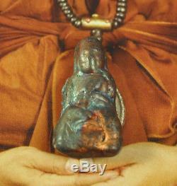 RARE Rainbow Suriyan Racha LEKLAI Phra Lp Tuad Thuad 7 color Thai Buddha Amulet