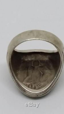 RARE! Solid SILVER 925 RING JATUKAM ANTIQUE THAI AMULET BUDDHA with code