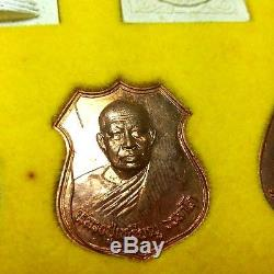 RARE Supreme Set 9 LP LEIAN Guru B. E. 2539 Genuine Thai Buddha Amulet Wealth