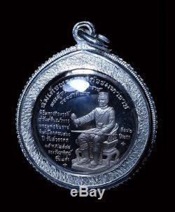 5a5dc427e Phra Chinnaraj emperor wat Yai be. 2548, Thai Buddha Amulet Solid Silver